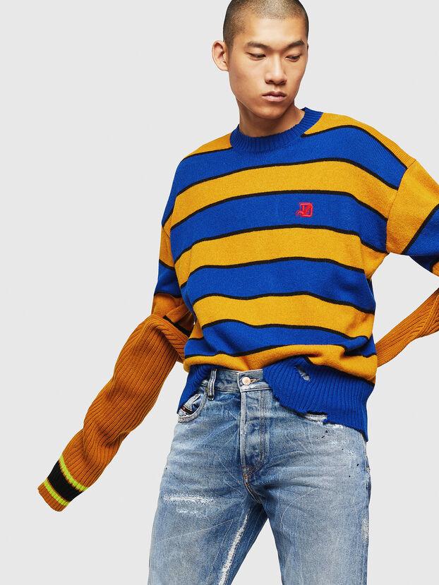 K-LOVERY, Blue/Yellow - Knitwear