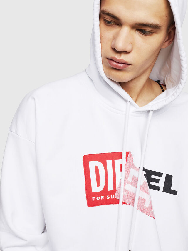 Diesel S-ALBY, White - Sweaters - Image 3