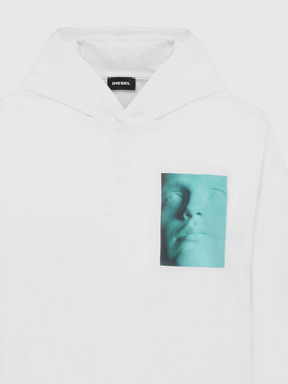 Diesel - T-JUST-LS-HOOD-X30, White - T-Shirts - Image 3