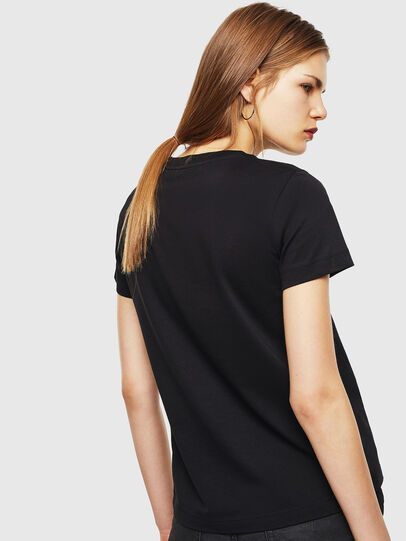 Diesel - T-SILY-COPY, Black - T-Shirts - Image 2