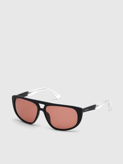 Diesel - DL0300, Black/White - Sunglasses - Image 2