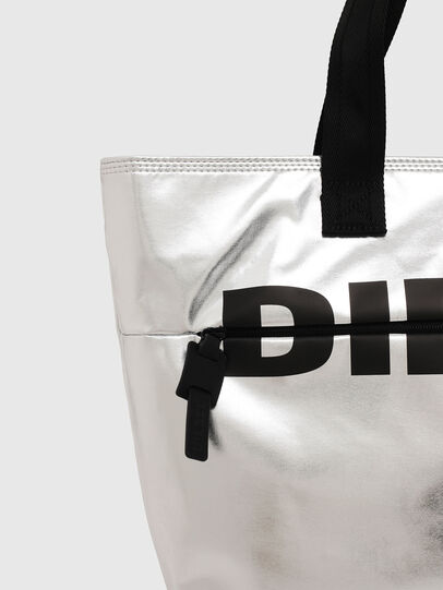 Diesel - F-BOLD SHOPPER II, Silver - Shopping and Shoulder Bags - Image 4