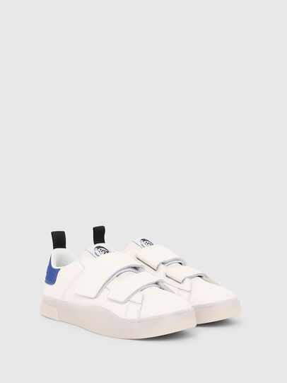 Diesel - S-CLEVER LOW STRAP, White/Blue - Sneakers - Image 2