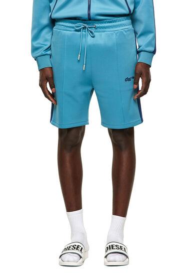 Green Label shorts in light scuba