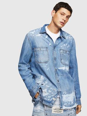 D-FRED, Light Blue - Denim Shirts