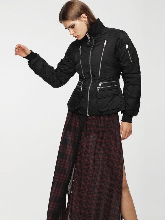 Diesel - W-BLANKYT, Black - Winter Jackets - Image 6