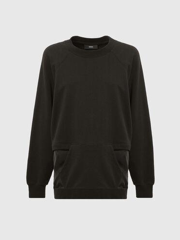 Sweatshirt with zip opening