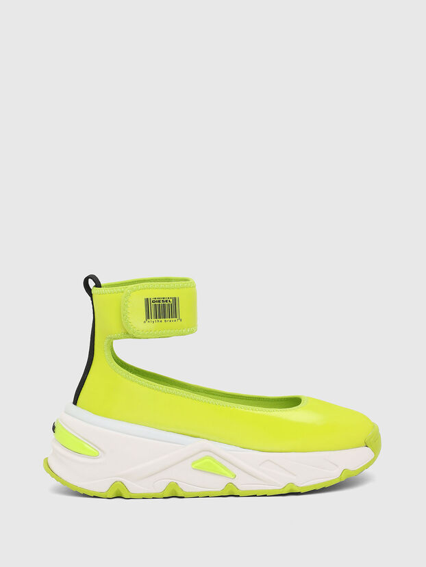 S-HERBY BA W, Yellow - Flats