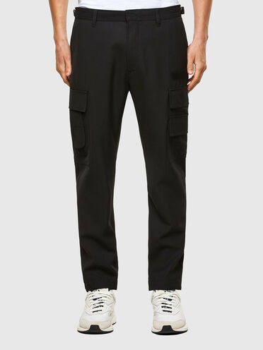 Cargo pants in cool wool