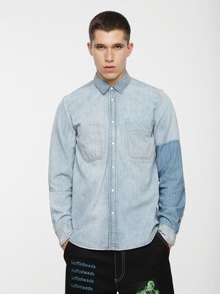D-EAST-PATCH,  - Denim Shirts