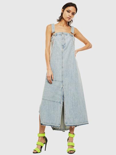 Diesel - DE-FYONA, Light Blue - Dresses - Image 1