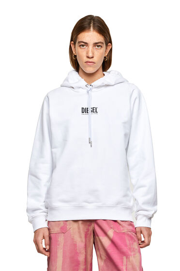 Hoodie with small 3D logo print