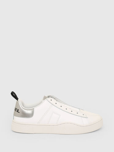 Reflective slip-on sneakers