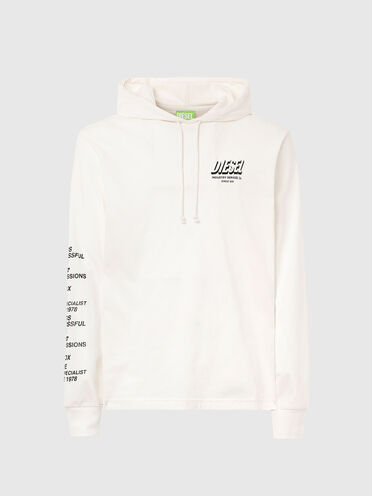 Green Label hooded T-shirt with print
