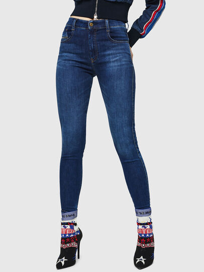 Diesel - Slandy High 089AJ, Dark Blue - Jeans - Image 1