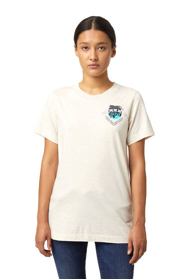 Pigment-dyed T-shirt with print