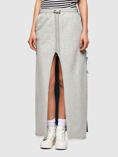Diesel - O-LE, Grey/Blue - Skirts - Image 1