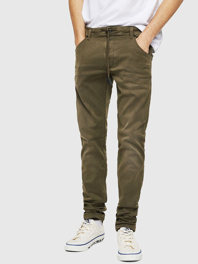 Diesel - Krooley Long JoggJeans 0670M, Military Green - Jeans - Image 1