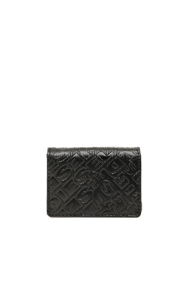 Tri-fold wallet with embossed logo