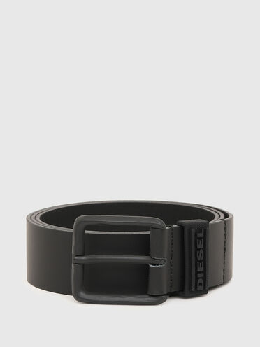 Leather belt with tonal design