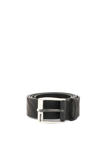 Refined buffalo leather belt