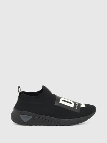 Slip-on sneakers with folded logo