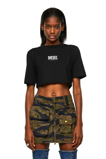 Green Label cropped T-shirt with logo