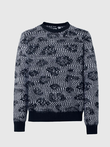 Pullover in animalier-jacquard knit