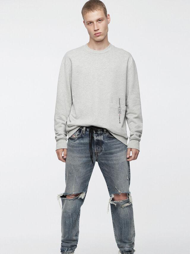Diesel - S-ELLIS-XX, Light Grey - Sweaters - Image 1
