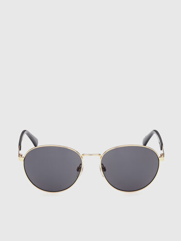 Round easy to wear metal sunglasses