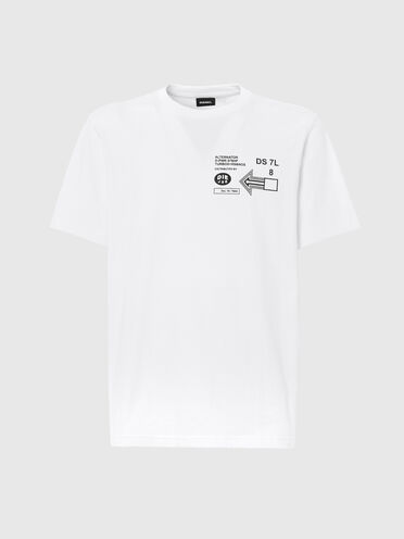 T-shirt with graphic logo prints