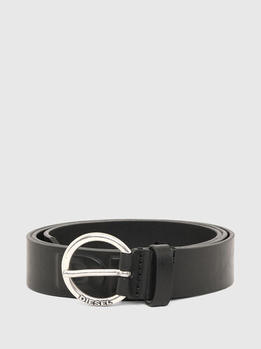 Belt with lettering in leather