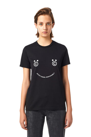 Green Label T-shirt with smiley face