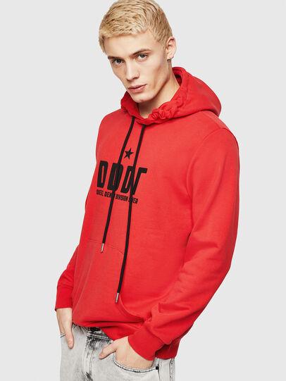 Diesel - S-GIR-HOOD-A1, Fire Red - Sweaters - Image 1