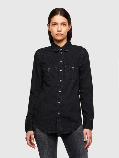 Diesel - DE-RINGY, Black - Denim Shirts - Image 1