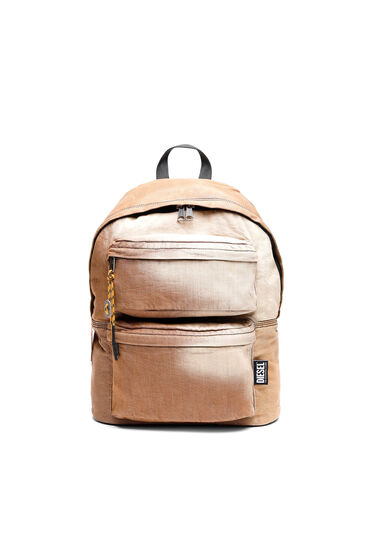 Denim backpack with sun-faded effect