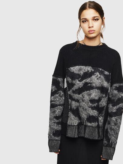 Diesel - M-POST, Black - Knitwear - Image 1