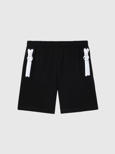 Sweat shorts with contrast detail