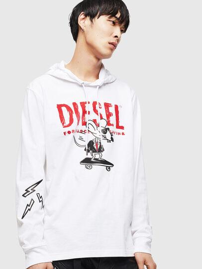 Diesel - CL-T-JUST-LS-HOOD,  - T-Shirts - Image 1
