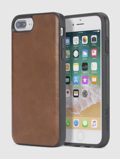 Diesel - BROWN LEATHER IPHONE 8 PLUS/7 PLUS/6s PLUS/6 PLUS CASE,  - Cases - Image 1