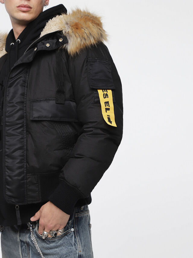 Diesel - W-BURKE, Black - Winter Jackets - Image 3