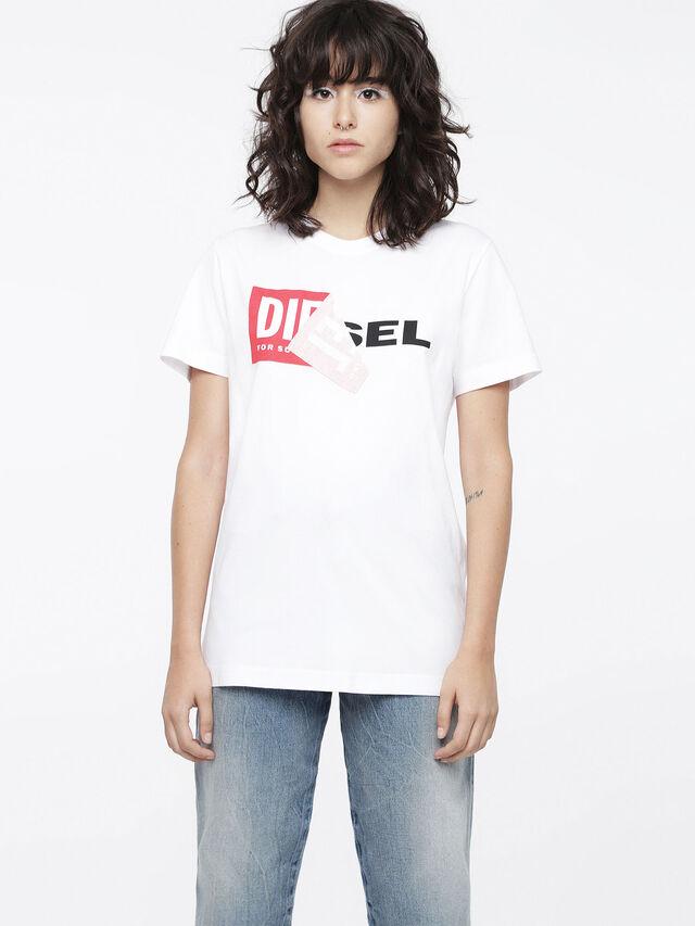 Diesel - T-DIEGO-QA-FL, White - T-Shirts - Image 1