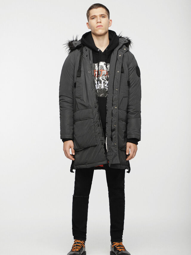 Diesel - W-BULLIONZ, Dark grey - Winter Jackets - Image 3