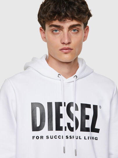 Diesel - S-GIRK-HOOD-ECOLOGO, White - Sweaters - Image 3