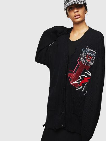 Diesel - M-JENNY, Black - Knitwear - Image 1