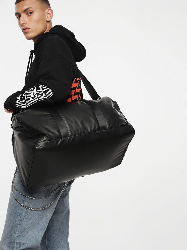 Diesel - F-DISCOVER DUFFLE, Black/Blue - Travel Bags - Image 4