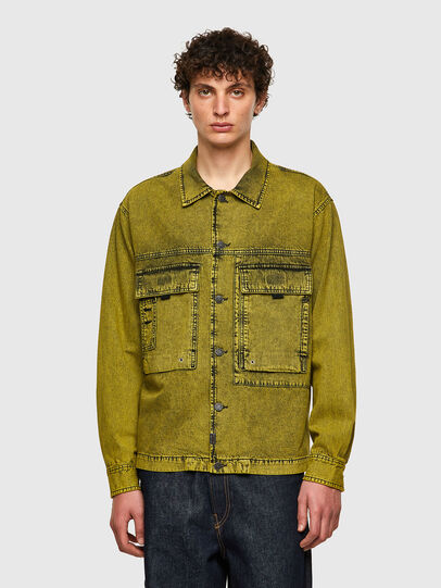 Diesel - D-FITZ-SP, Yellow - Denim Shirts - Image 1