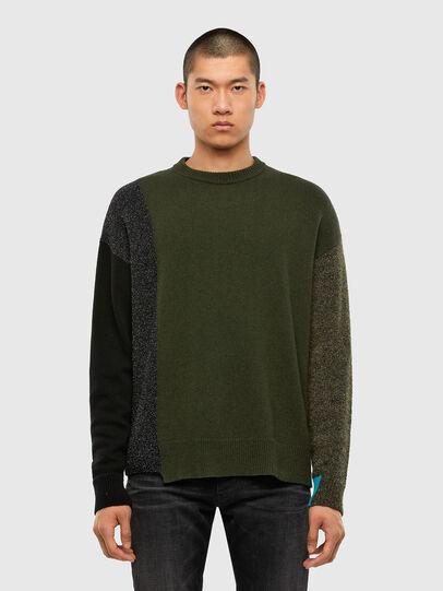 Diesel - K-MOSES, Olive Green - Knitwear - Image 1