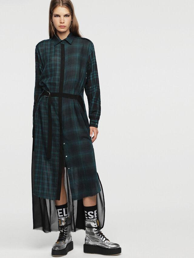Diesel - D-BAGGY, Green/Black - Dresses - Image 1