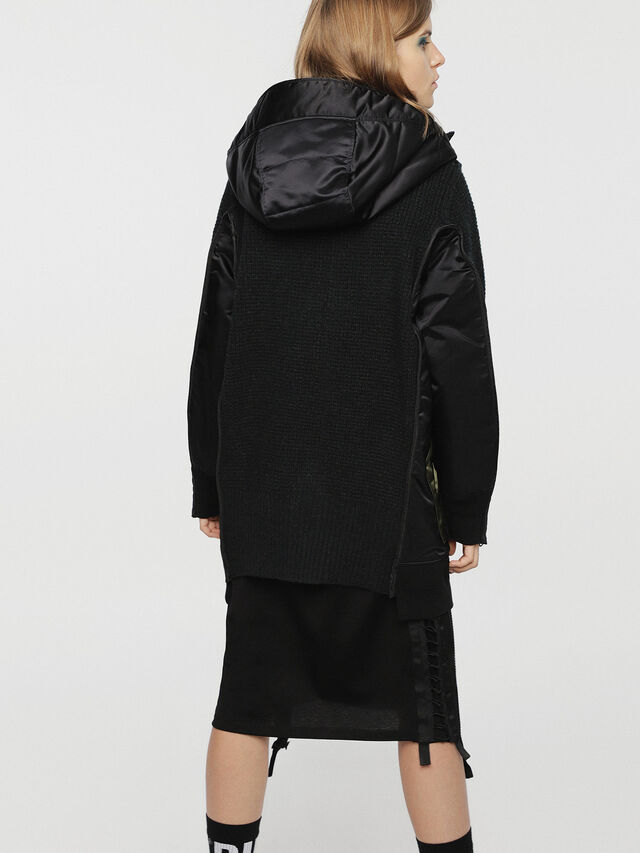 Diesel - M-LIF-FL, Black - Winter Jackets - Image 2